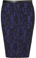 Topshop Lace Pencil Skirt - Lyst