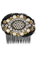 Dolce & Gabbana Swarovski Crystal and Faux Pearlembellished Hair Slide - Lyst