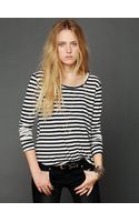 Free People We The Free Faded Stripe Tee - Lyst