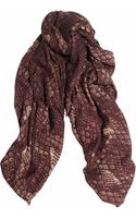 Marc By Marc Jacobs Dragon Scale Printed Wool Scarf - Lyst