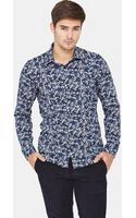 Ted Baker Ted Baker Mens Long Sleeve Floral Shirt - Lyst