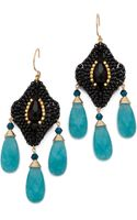 Miguel Ases Crystal Quartz Earrings - Lyst