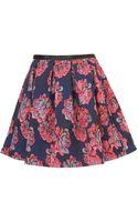 Topshop Premium Floral Full Skirt - Lyst
