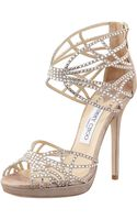 Jimmy Choo Diva Crystal Cutout Sandal - Lyst