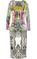 Etro Printed Stretchsilk Satin Dress - Lyst
