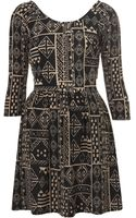 Topshop Aztec Wrap Back Flippy Dress - Lyst