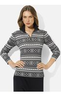Lauren by Ralph Lauren Half Zip Sweater - Lyst