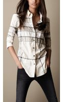 Burberry Brit Check Cotton Blend Shirt - Lyst