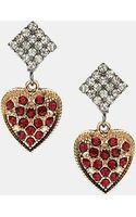 Topshop Heart Earrings - Lyst