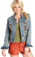 Free People  Embroidered Distressed Denim Jacket - Lyst