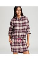 DKNY Mans World Long Sleeve Flannel Sleepshirt - Lyst