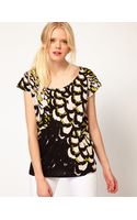 Sass & Bide Sass and Bide The Terrazzo Tee in Feather Print - Lyst