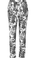 Stella McCartney Christine Floralprint Silk Tapered Pants - Lyst