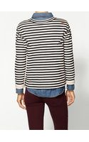 Marc By Marc Jacobs Ben Striped Terry Sweatshirt - Lyst