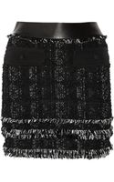 Antonio Berardi Fringed Tweed Mini Skirt - Lyst