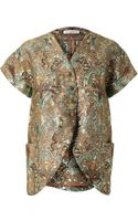 Vika Gazinskaya Tailored Brocade Kimono Jacket - Lyst
