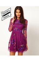 ASOS Collection Asos Skater Dress with Embellishment - Lyst