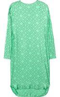 Marni Printed Silk Dress - Lyst