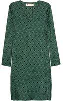 Marni Printed Silksatin Dress - Lyst