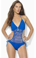 Ralph Lauren Blue Label Lacy Monokini - Lyst