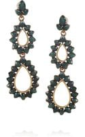 Oscar de la Renta 24Karat Gold-Plated Crystal Earrings - Lyst
