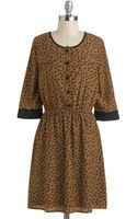 ModCloth Coffee and Cocoa Dress - Lyst