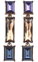 Oscar de la Renta Triple Drop Swarovski Earring - Lyst