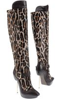 Versace Highheeled Boots - Lyst