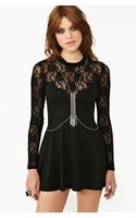 Nasty Gal Fringed Armour Body Chain - Lyst