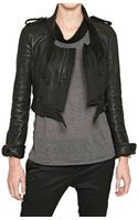 Burberry Prorsum Nappa Leather Biker Jacket - Lyst