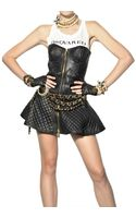 DSquared2 Quilted Nappa Leather Dress - Lyst