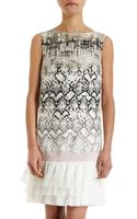 Giambattista Valli Reptile Print Mini Dress - Lyst