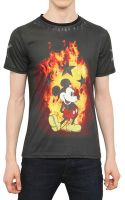 Philipp Plein Mickey Mouse Flame Print Jersey Tshirt - Lyst