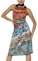 Proenza Schouler Studded and Printed Silk Duchesse Dress - Lyst