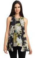 Cynthia Rowley Hideaway Abstract Top - Lyst