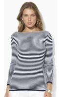 Lauren by Ralph Lauren Longsleeved Boatneck Sweater - Lyst