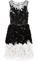 Oscar de la Renta Chantilly Lace and Organza Dress - Lyst