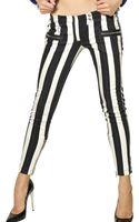 Balmain Stripey Stretch Cotton Denim Jeans - Lyst