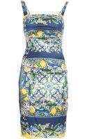 Dolce & Gabbana Silk Blend Dress - Lyst