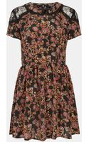Topshop Sketch Floral Lace Dress - Lyst