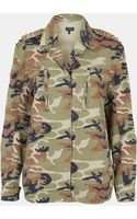 Topshop Studded Camo Jacket - Lyst