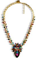 Erickson Beamon Rainbow Iridescent Crystal Gold Plated Pendant Necklace - Lyst