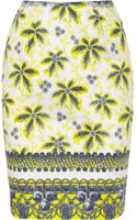 Prabal Gurung Printed Cotton Blend Pencil Skirt - Lyst