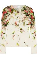RED Valentino Floralprint Wool Cardigan - Lyst