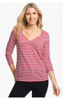 Tommy Bahama Mar Vista Stripe V-Neck Tee - Lyst