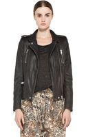 Iro Anabela Leather Moto Jacket in Black - Lyst