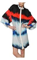 Jean-Pierre Braganza Printed Crepe and Satin Silk Dress - Lyst