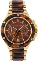 Michael by Michael Kors Midsize Tortoise Chronograph Watch - Lyst