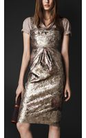 Burberry Prorsum Sequin Bustier Dress - Lyst