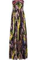 Matthew Williamson Floral Print Silk Chiffon Gown - Lyst